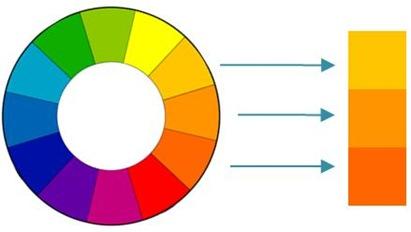 Color scheme based on analogous colors.