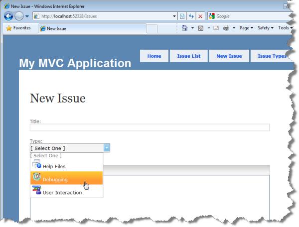 New Issue: WebDropDown custom item template